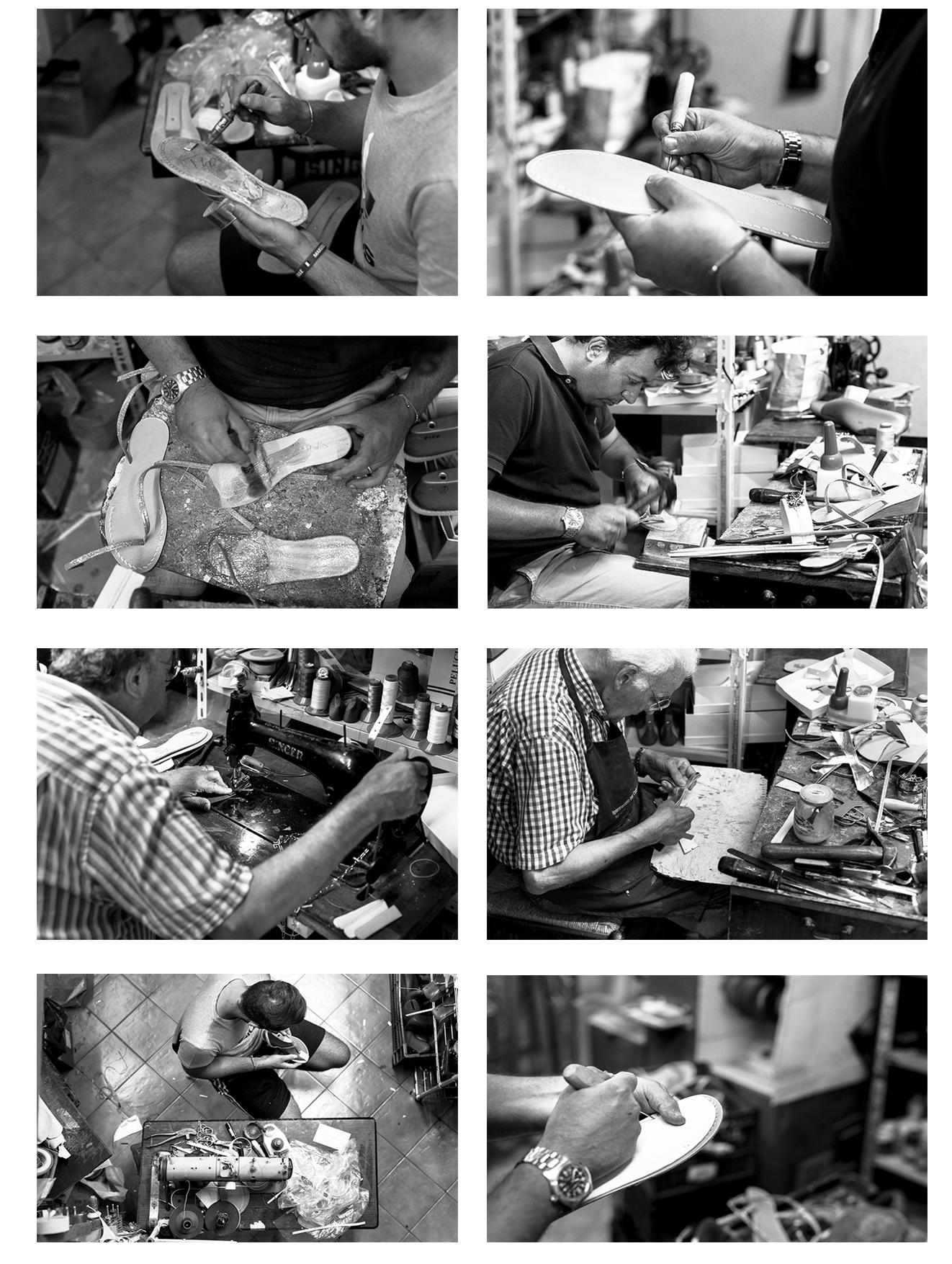 Laboratorio artigianale di Sandali
